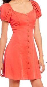 Gianni Bini Jemma Puff Sleeve Red Dress
